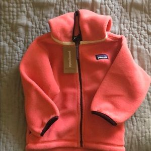 NWT Patagonia Baby Synch Cardigan Spiced Coral